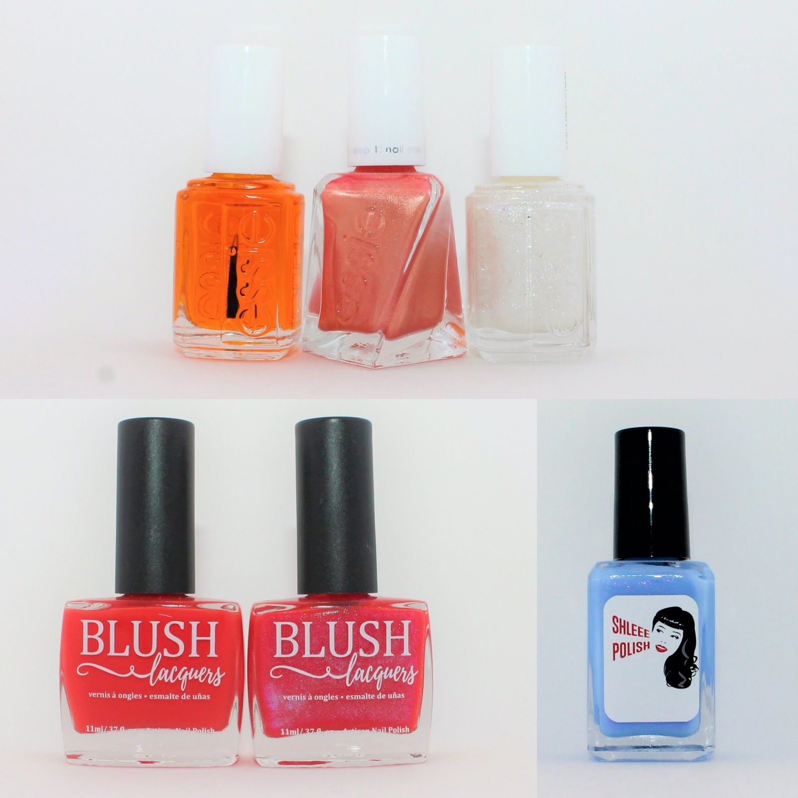 Essie Apricot Cuticule Oil, Sunrush Metal, Let it Bow. Blush LacquersPickin' Poppies, Stop in The Name of Love. HHC November 2019 - Shleee Polish Anime Gaga.