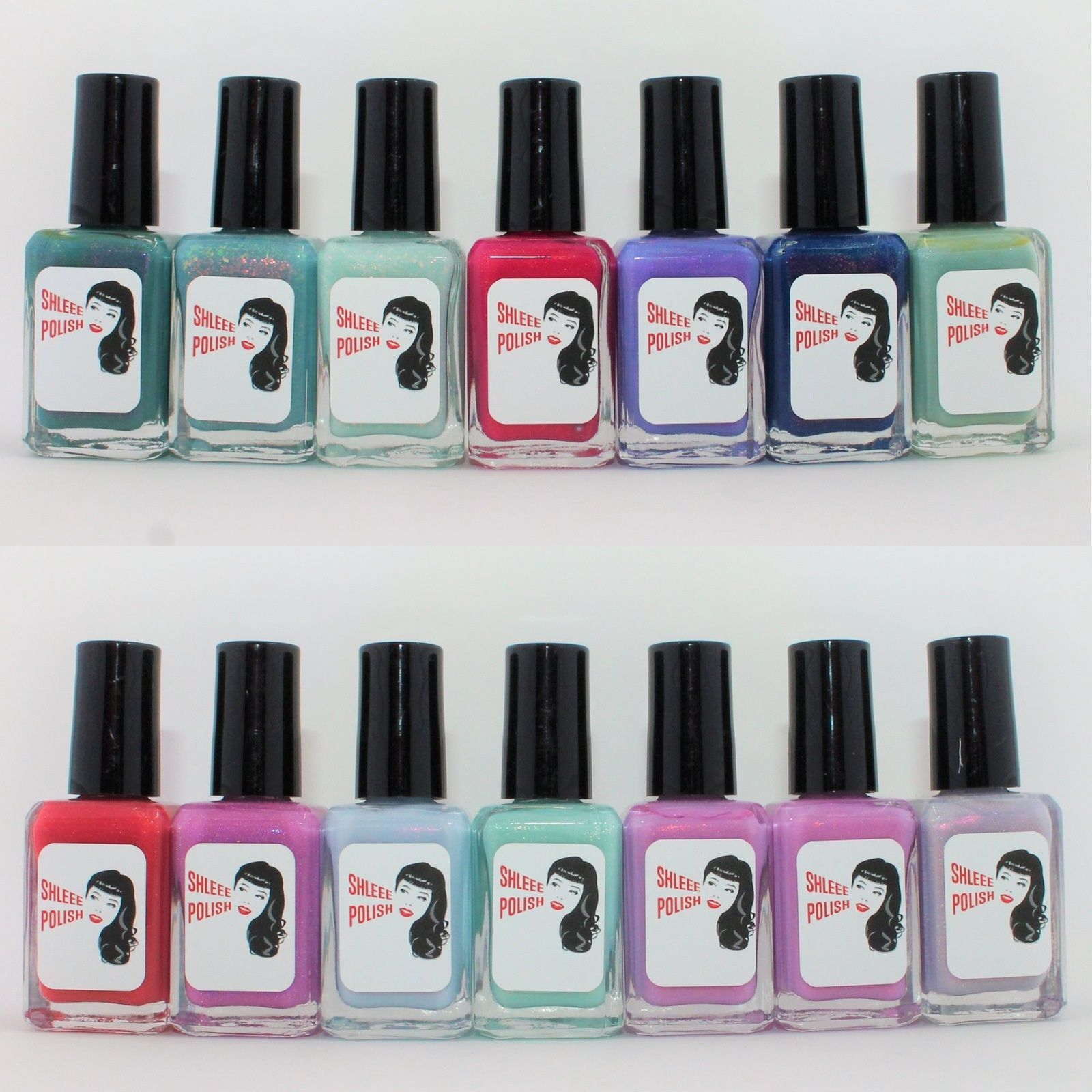 Shleee Polish Mariner, Tumbling Lights, Mint Opal, Dollar Princess, Me Time, Night Time Walkers, Mint Julep, Less Than Lovers, Dream Glow, Glacier heart, Hold Your Breath,, Drama Club (2 of them),  Full Flower Moon.
