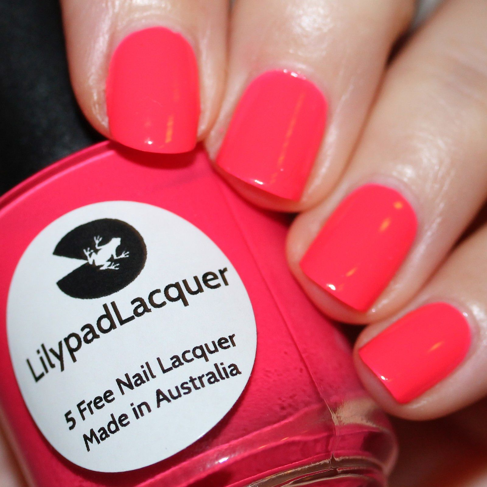 Lilypad Lacquer First Base / Lilypad Lacquer Strawberry Sundae / Lilypad Lacquer Crystal Clear Top Coat