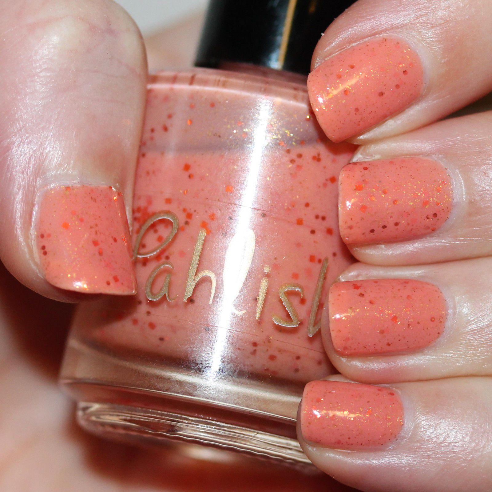 Essie Protein Base Coat / Pahlish His Favorite Sundress / HK Girl Top Coat