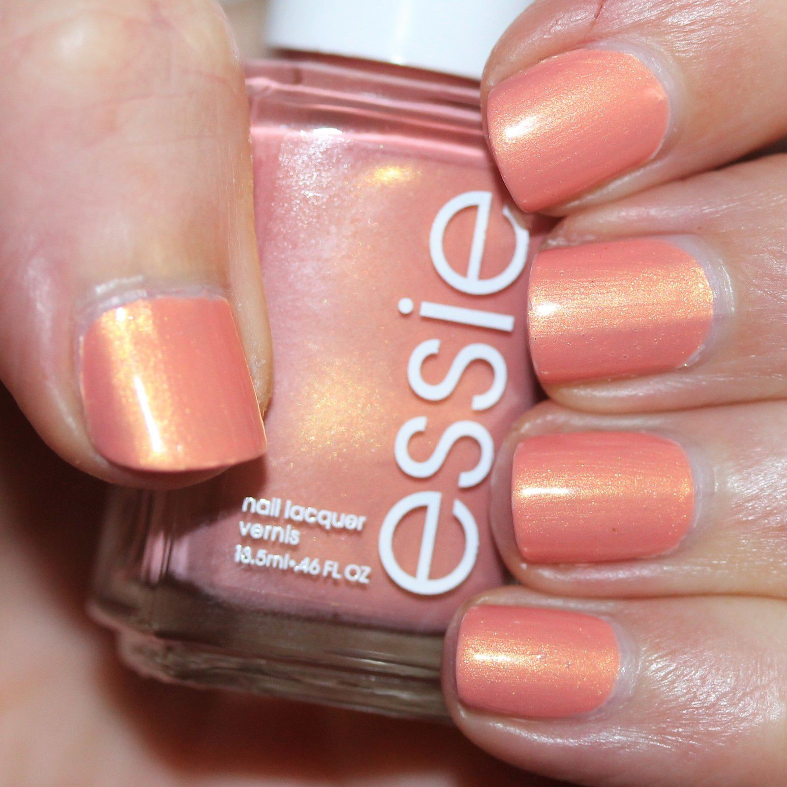 Essie Protein Base Coat / Essie Reach New Heights / Essie Gel Top Coat
