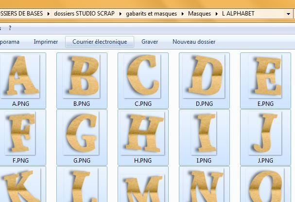 LETTRINE - utilisation d'un alphabet comme Masque - juin 2016
