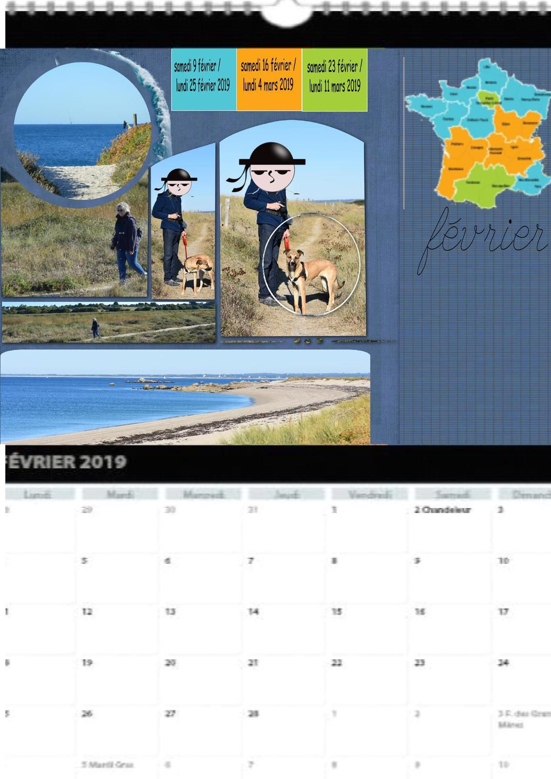 Calendrier Vistaprint 2019.Calendrier 2019 Scrap Digital Inspiration Azza