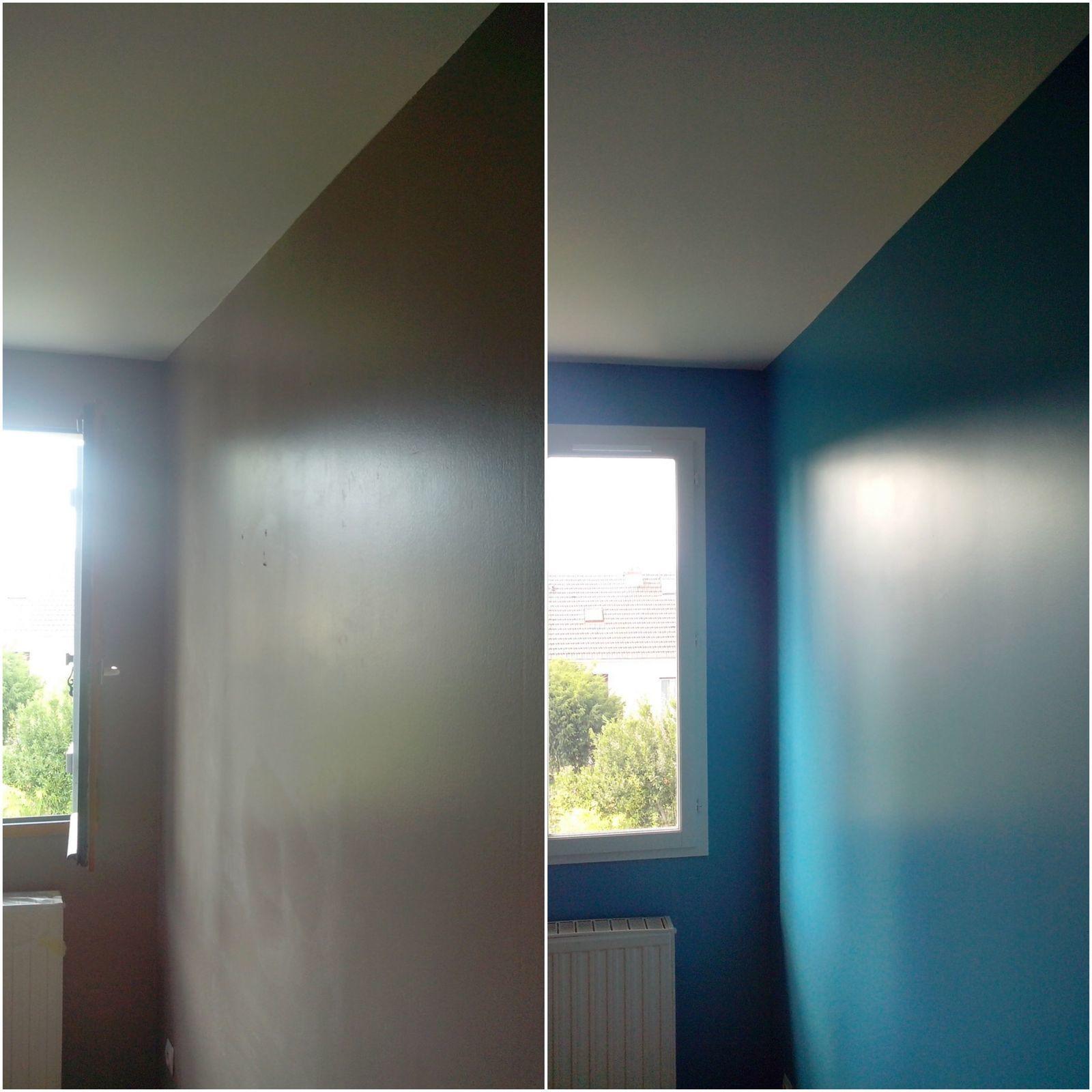 Maison à Sartrouville (78) - Chambre Bleue (avant-après)