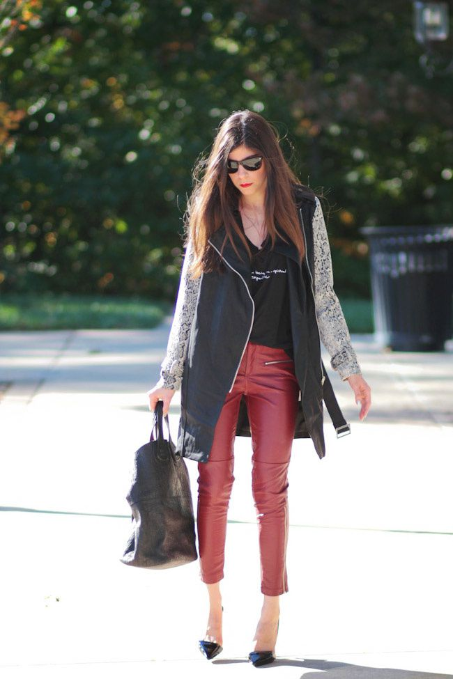 Red and Leather Outfits