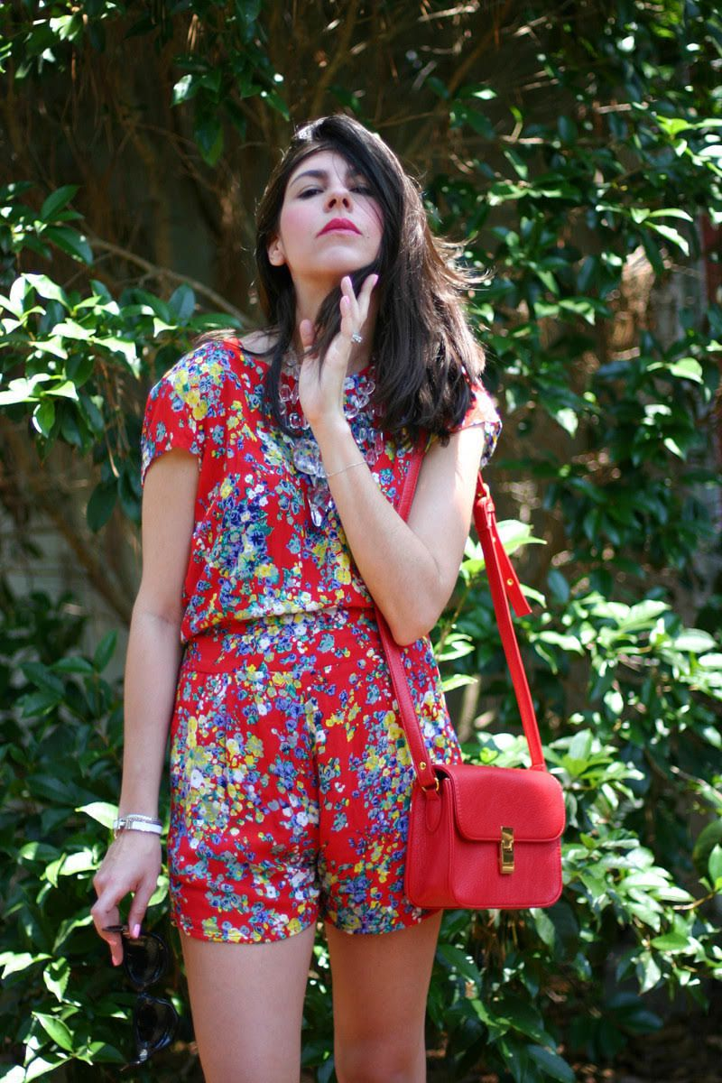 Seeing Red Tropical Prints