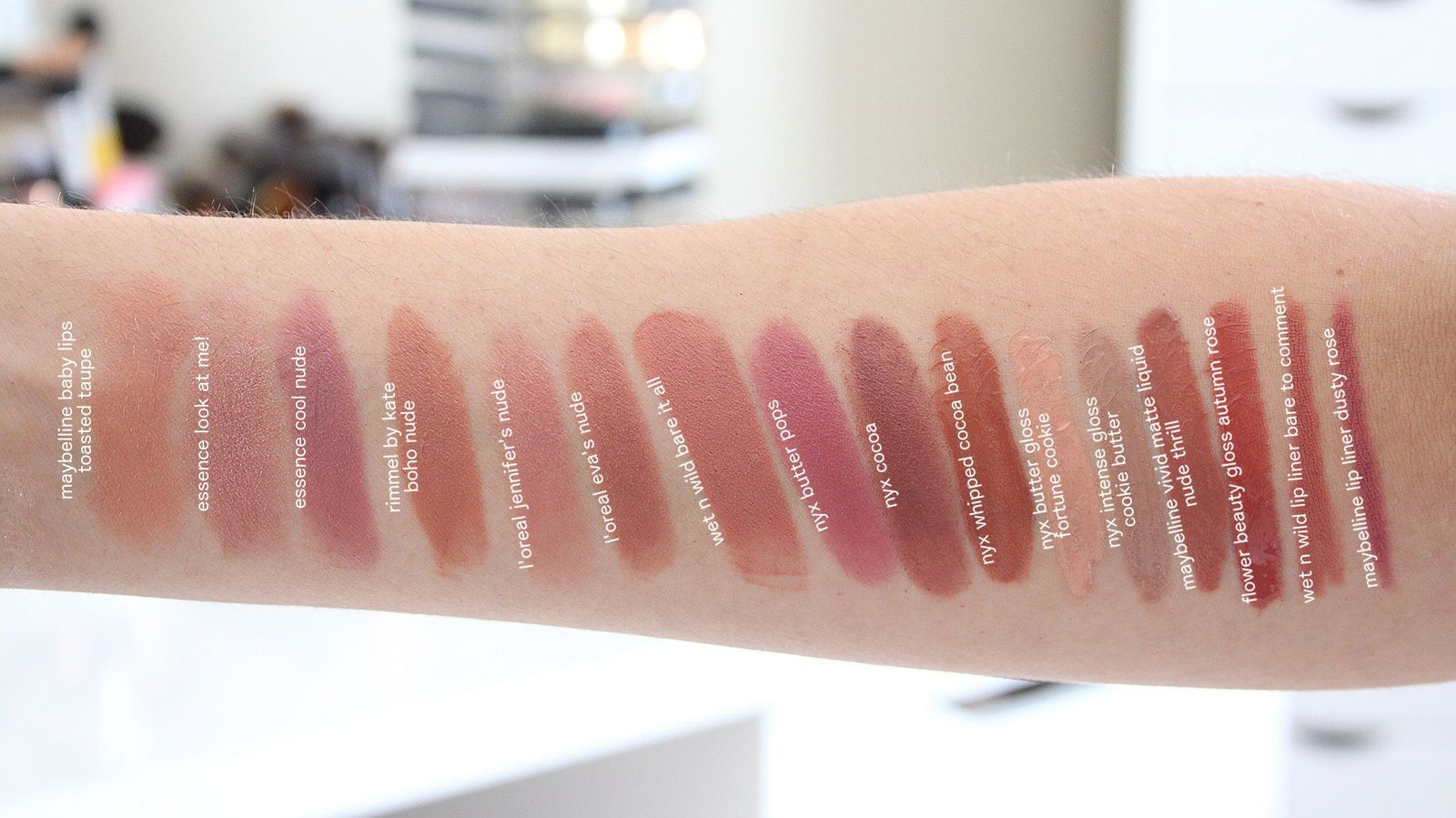 Best Drugstore Nudes! Lipstick, Lipgloss & Liners!