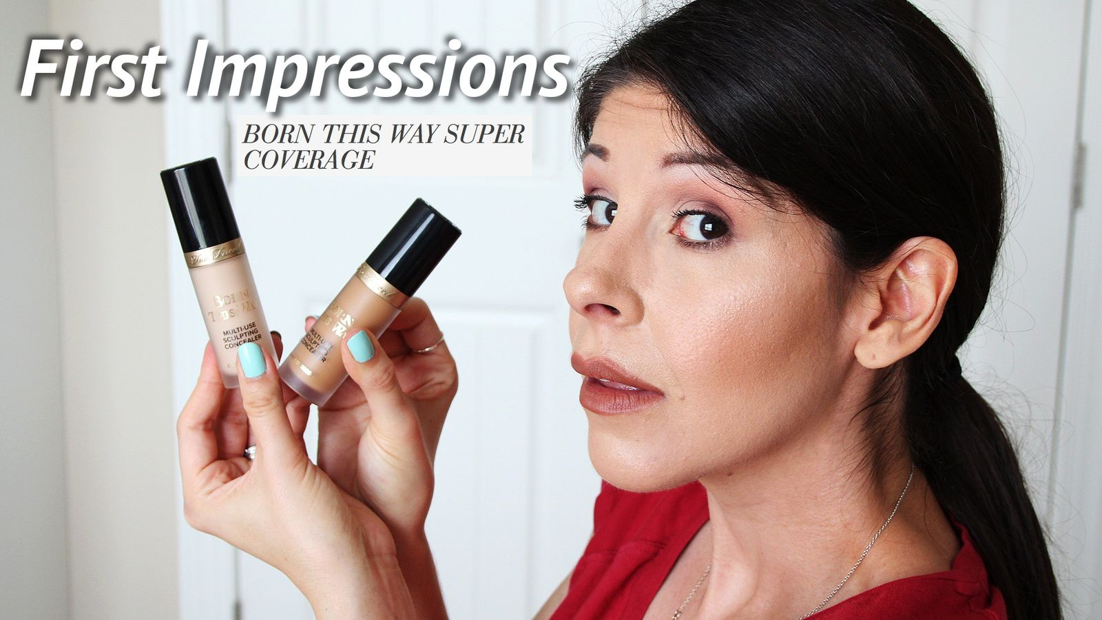 FIRST IMPRESSIONS TOO FACED SUPER COVERAGE CONCEALER! & REVIEW