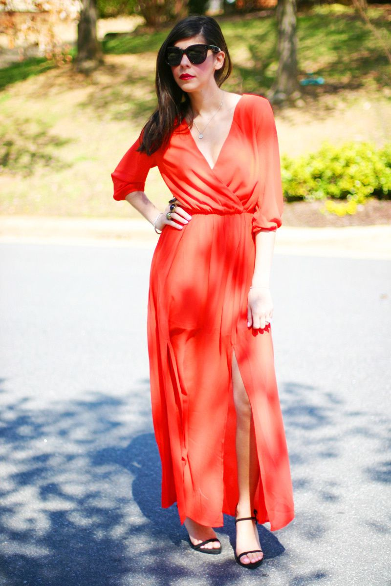 SALAMANDER ORANGE MAXI DRESS