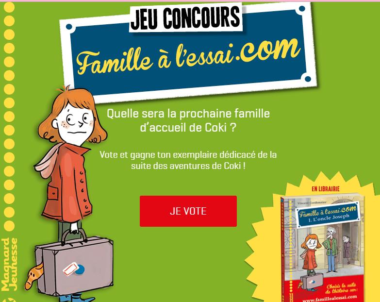 """J'ai lu : Le Tome 1 de """"Famille à l'aissai.com"""""""