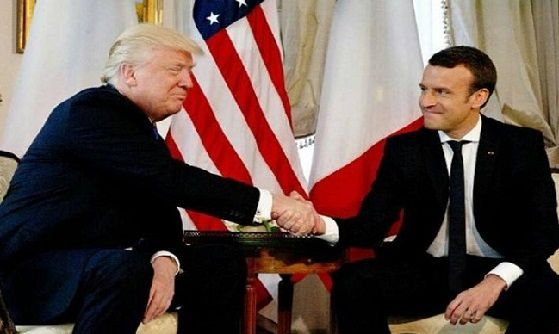 D.Trump et E. Macron