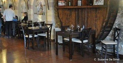 Le Président au restaurant Le Foudre