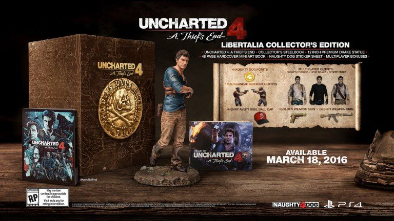 UNCHARTED 4 : A THIEF'S END SPECIAL EDITION PS4 POUR 49,99€