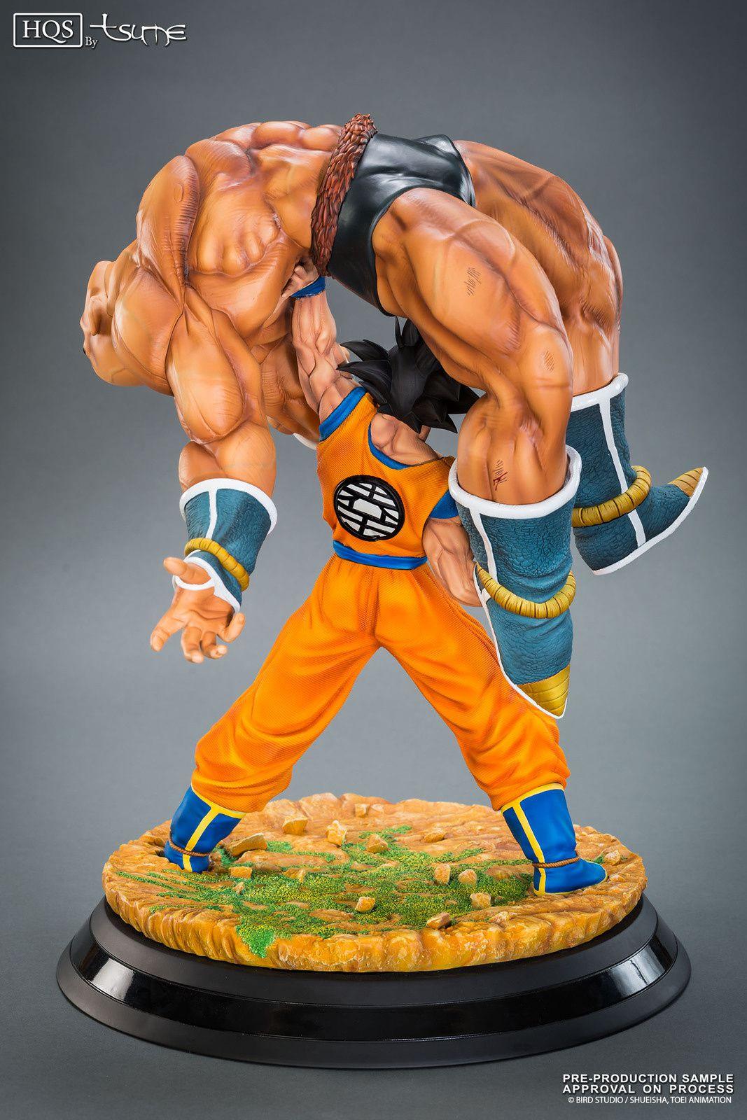 Son Goku et Nappa se déclinent en figurine