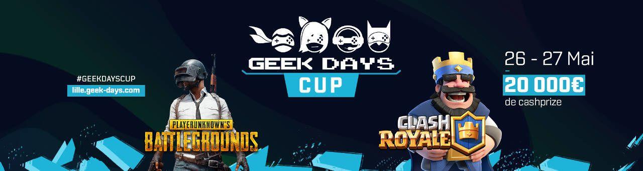 Geek Days 2018 de Lille : des tournois PUBG et Clash Royale au programme