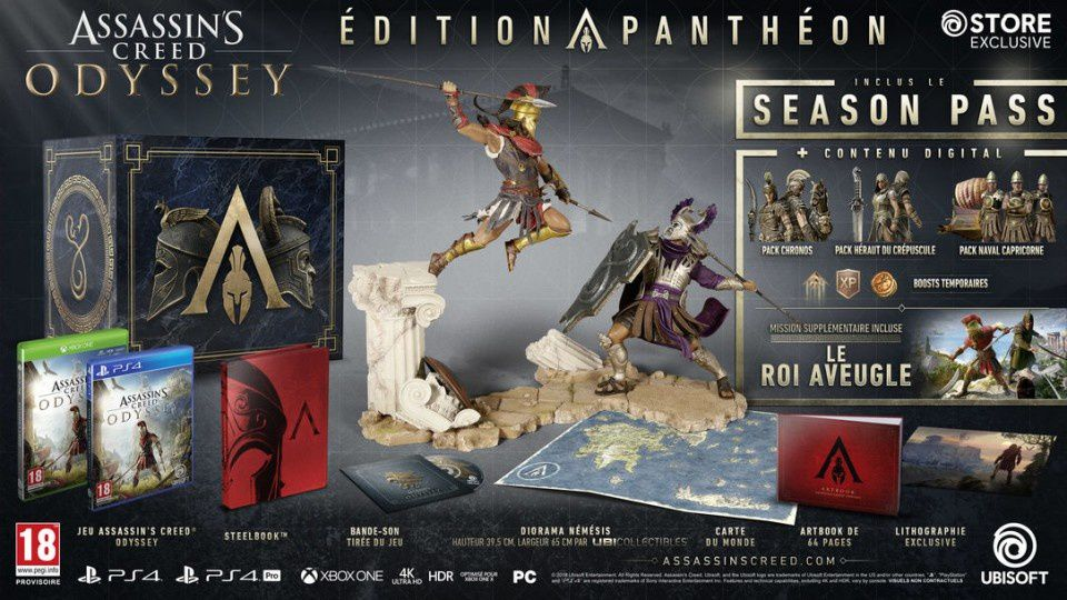 Assassin's Creed Odyssey présente ses versions collector !