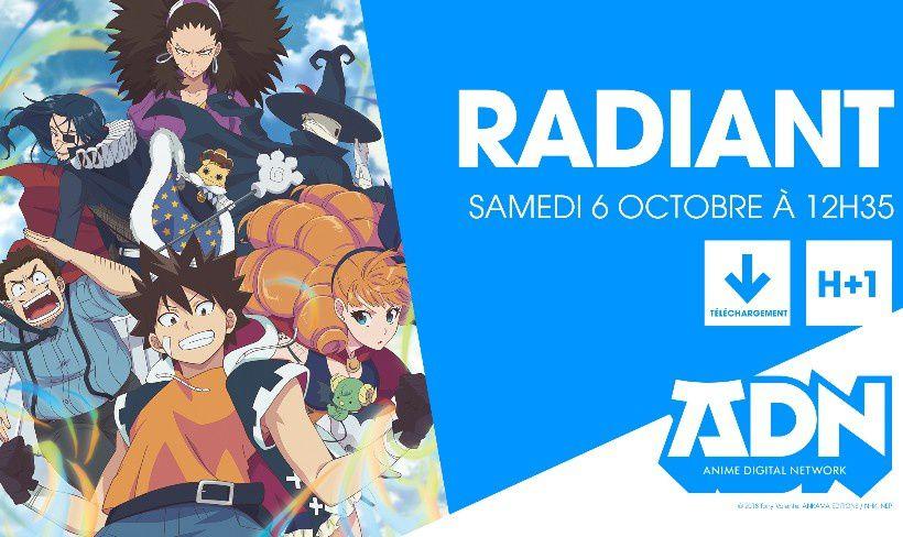 La série TV de RADIANT en octobre sur Crunchyroll