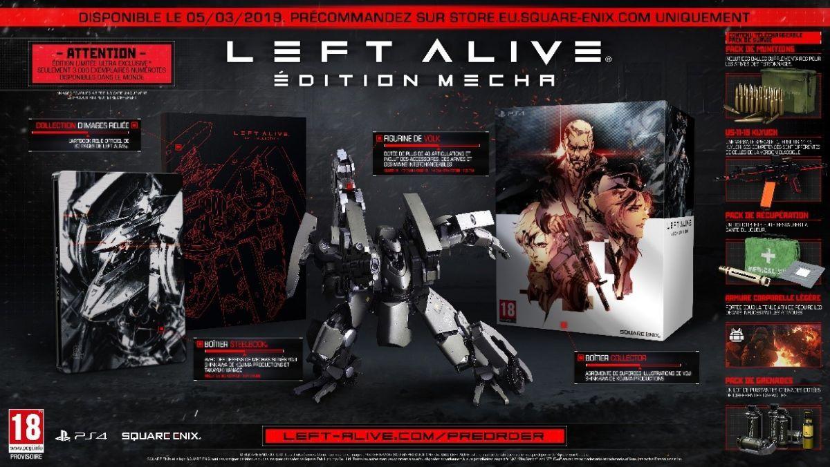 Left Alive annonce sa date de sortie et ses éditions spéciaux !