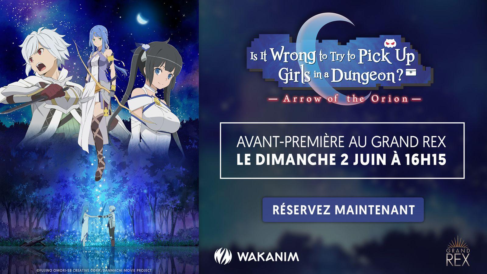 Le film Danmachi -Arrow of the Orion- en avant-première au Grand Rex !