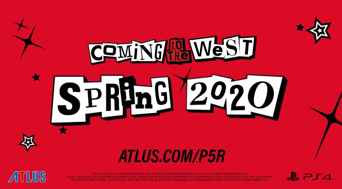 Persona 5 Royal pour le printemps 2020 !