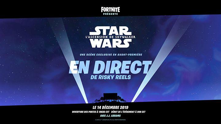 J.J. Abrams a révélé que Fortnite allait diffuser dans le jeu, un contenu jamais vu et exclusif: une scène du film Star Wars : L'Ascension de Skywalker