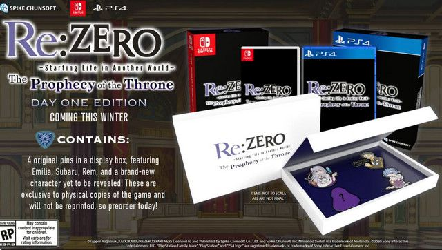 Re:ZERO The Prophecy of the Throne dévoile ses éditions physiques