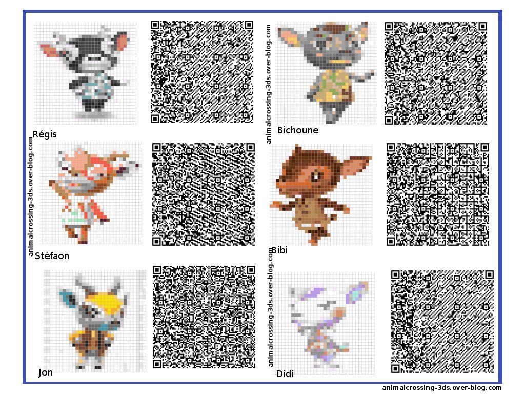 Les QR codes résidents animal crossing :