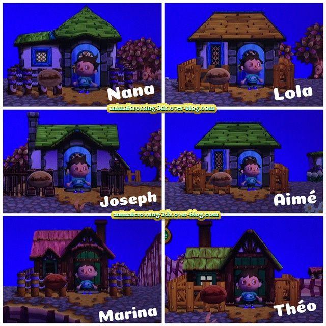 Les différentes maisons des résidents dans Let's go to the City