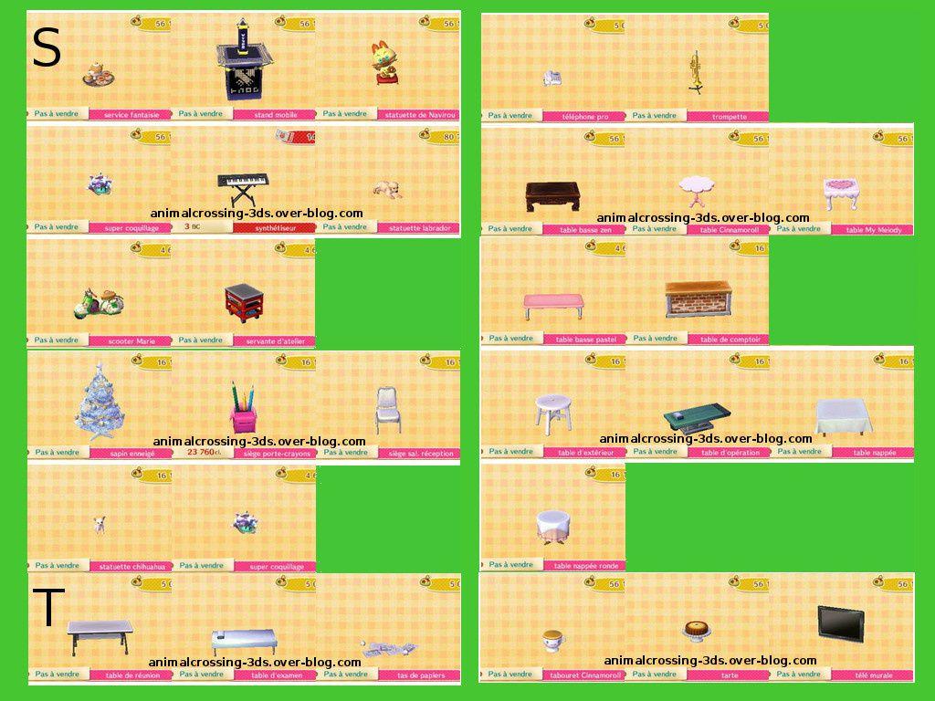 Les  meubles de la MAj (en cours) :