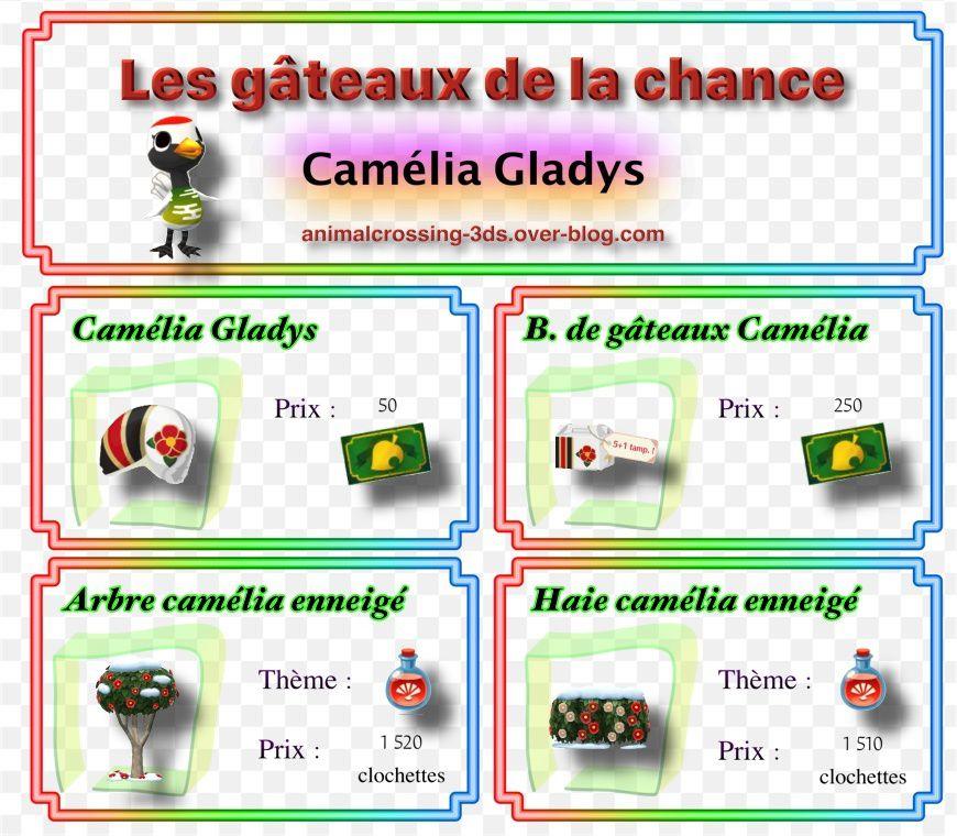 Les gâteaux camélia Gladys