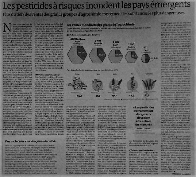 Communauté de communes du pays de Valois : Comment l'industrie agrochimique s'enrichit en empoisonnant notre planète