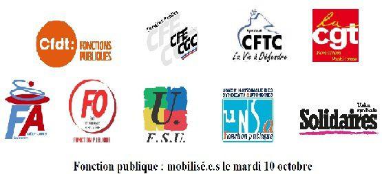 Tous en grève le 10 octobre (à l'appel de FO et de toutes les fédérations de fonctionnaires) - enquête grève à remplir