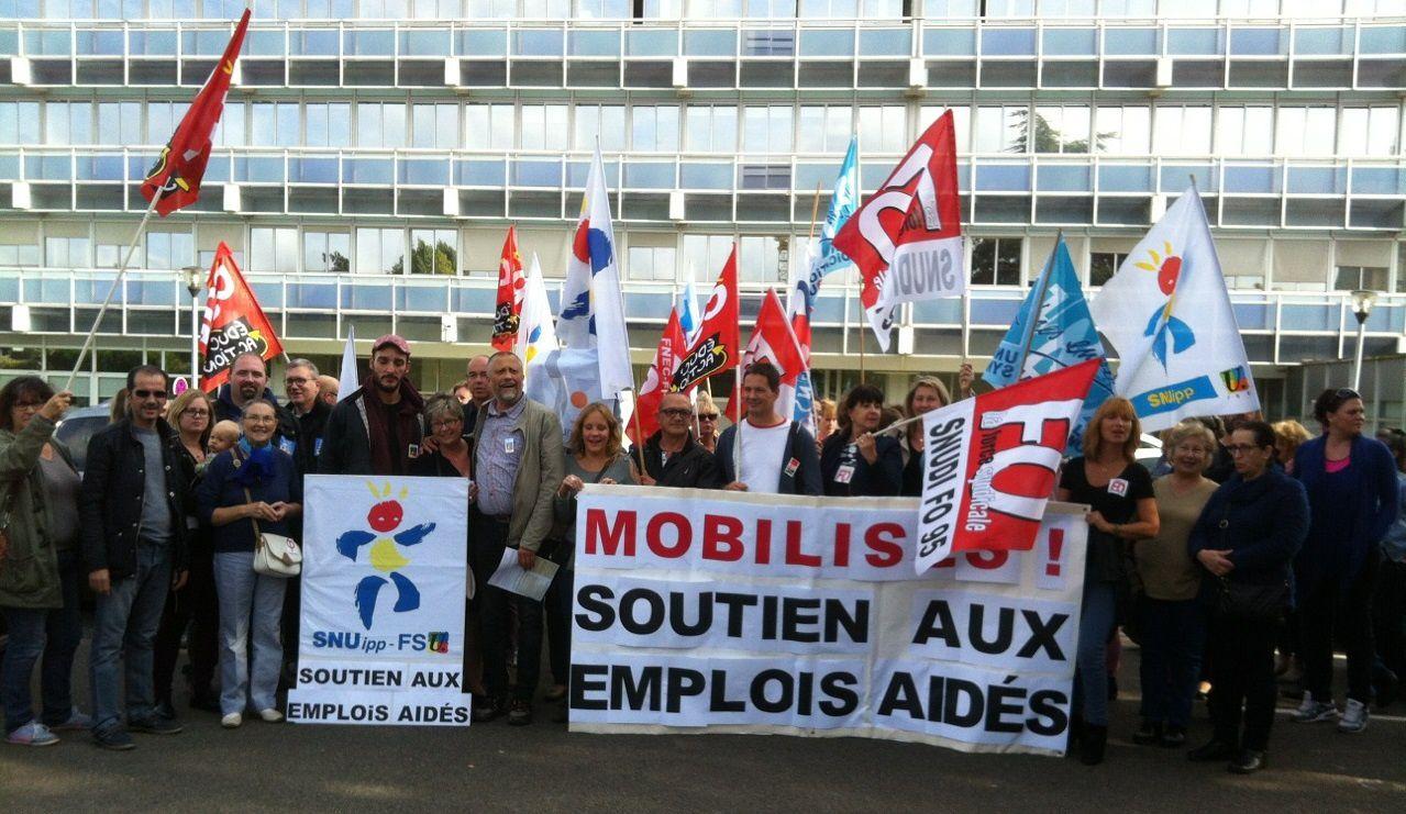 Rassemblement du 27 septembre et audience pour le maintien des contrats aidés.