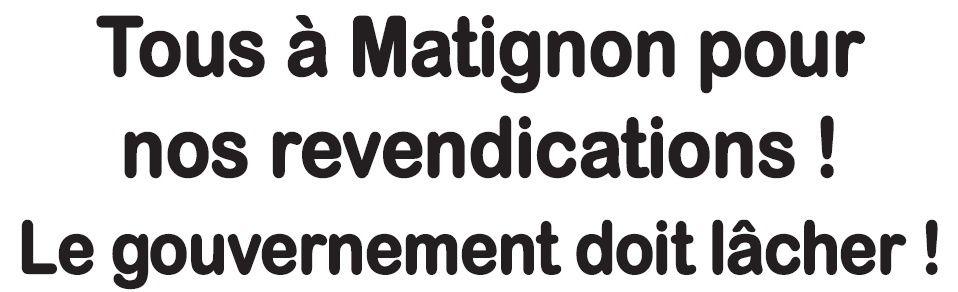 Tous à Matignon le 7 février !