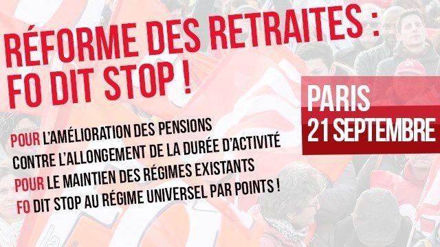 Jusqu'à 40 % de pension en moins ! LE PROJET MACRON – DELEVOYE CONTRE LES RETRAITES EST INSUPPORTABLE ! IL DOIT DISPARAITRE TOUS A PARIS LE 21 SEPTEMBRE