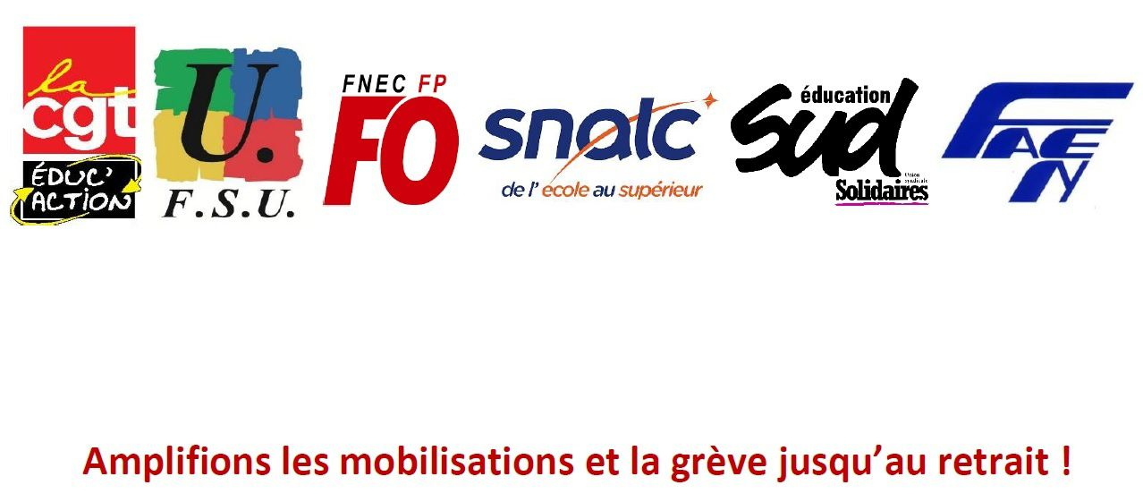 Amplifions les mobilisations et la grève jusqu'au retrait !