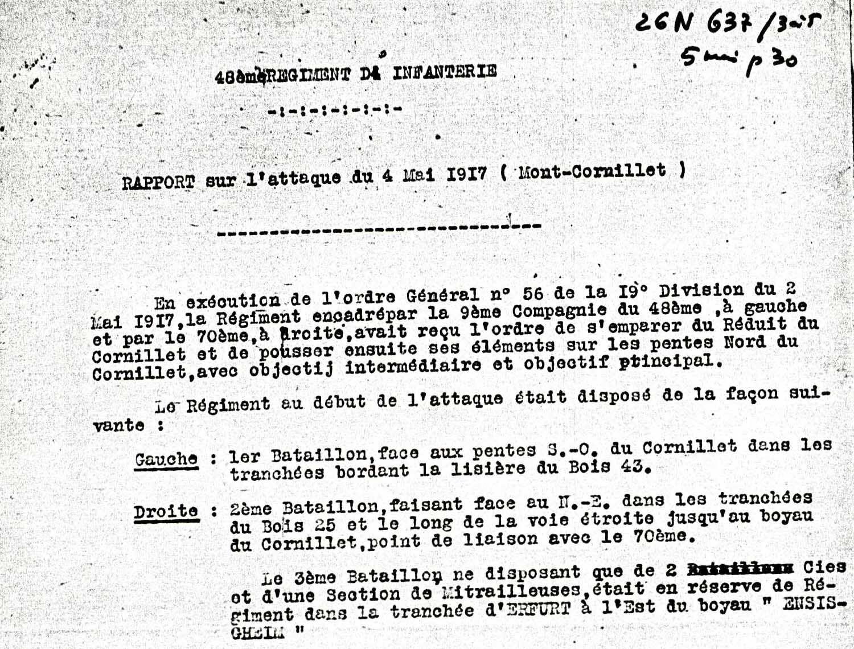 Alexandre Gantelet, mort au combat le 4 mai 1917, au Mont Cornillet