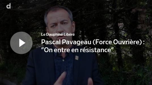 Pascal Pavageau, récemment élu à la tête de la confédération, a fait un détour par le Sud-Ardèche