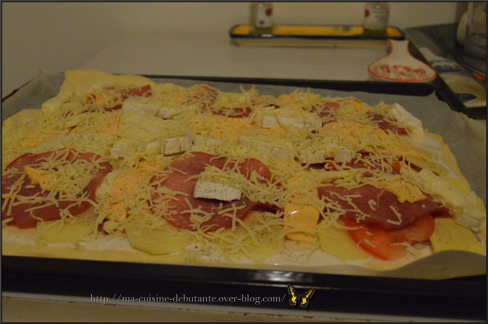 Pizza gourmande fromages