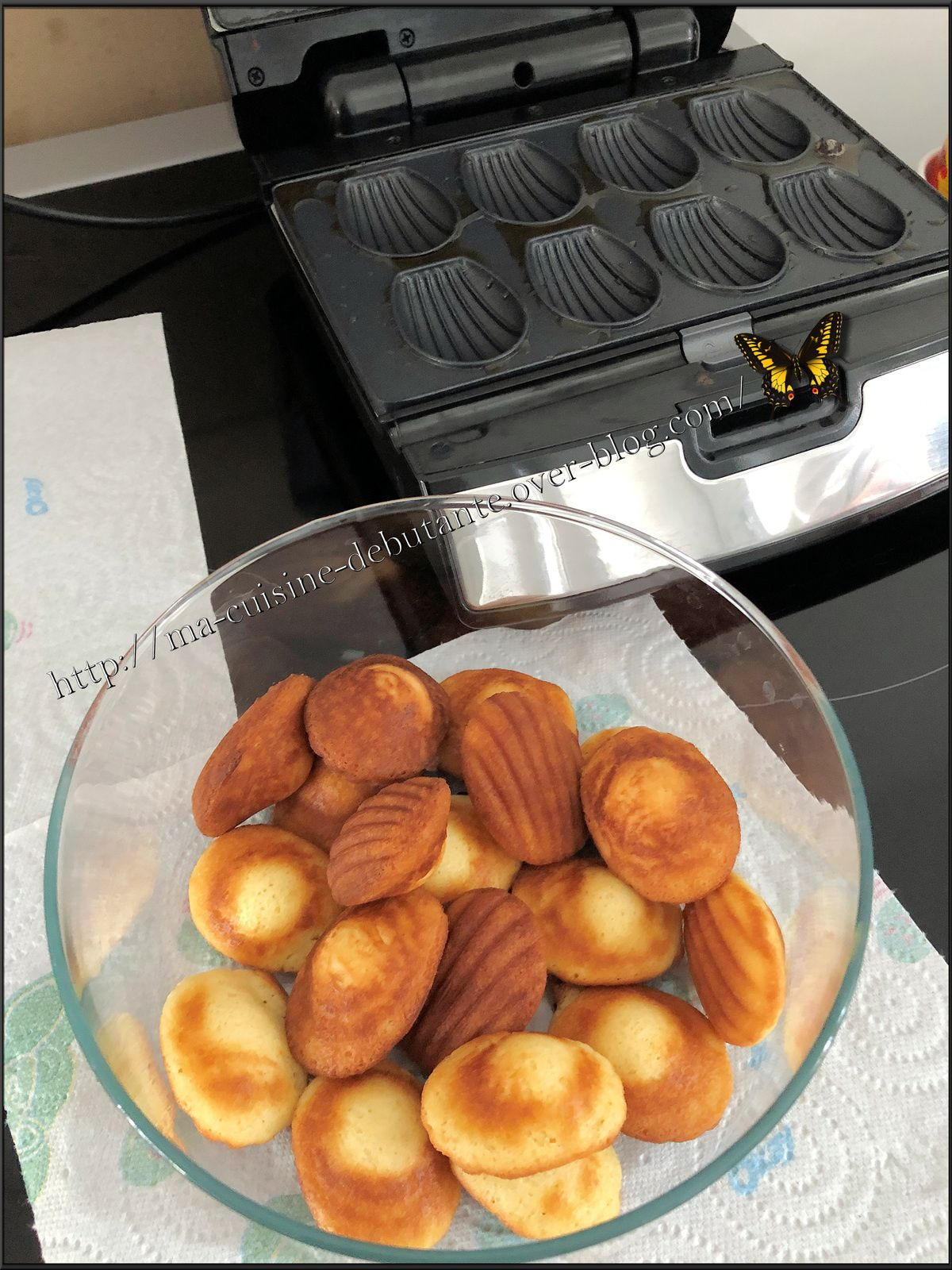 Minis madeleines avec le gaufrier snack collection