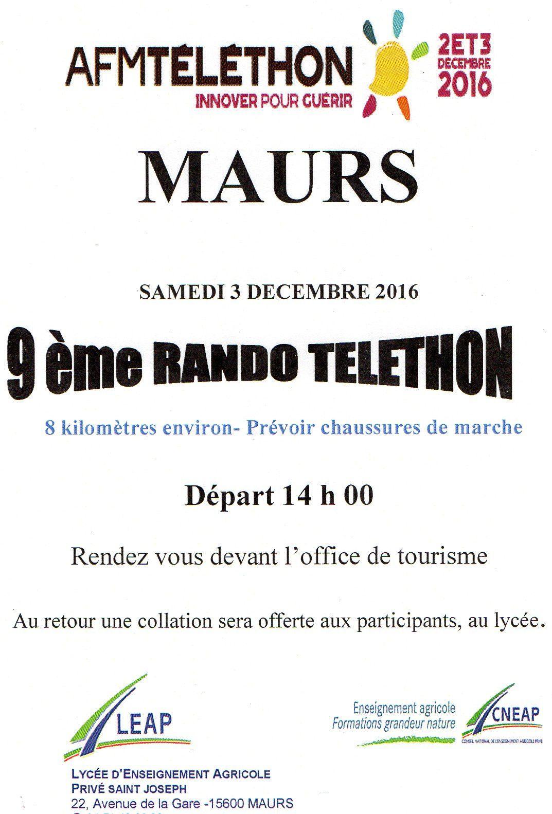 Rando Téléthon à Maurs