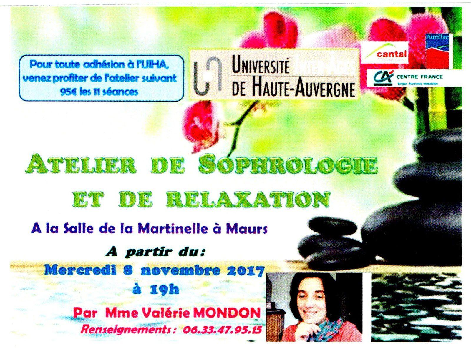 Atelier de sophrologie et relaxation à Maurs