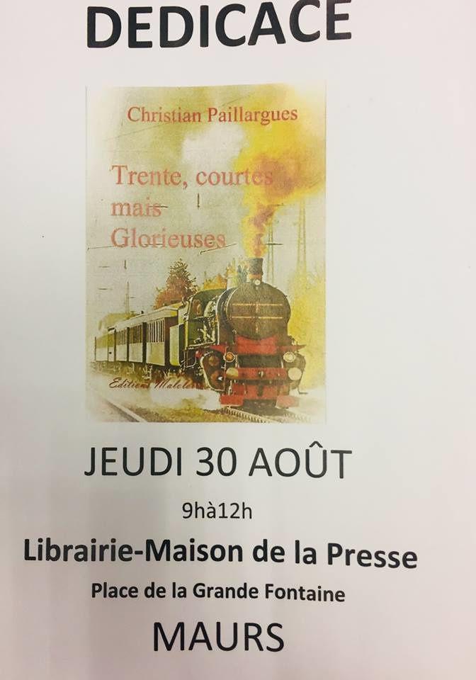 Dédicace de Christian PAILLARGUES à la maison de la presse à Maurs