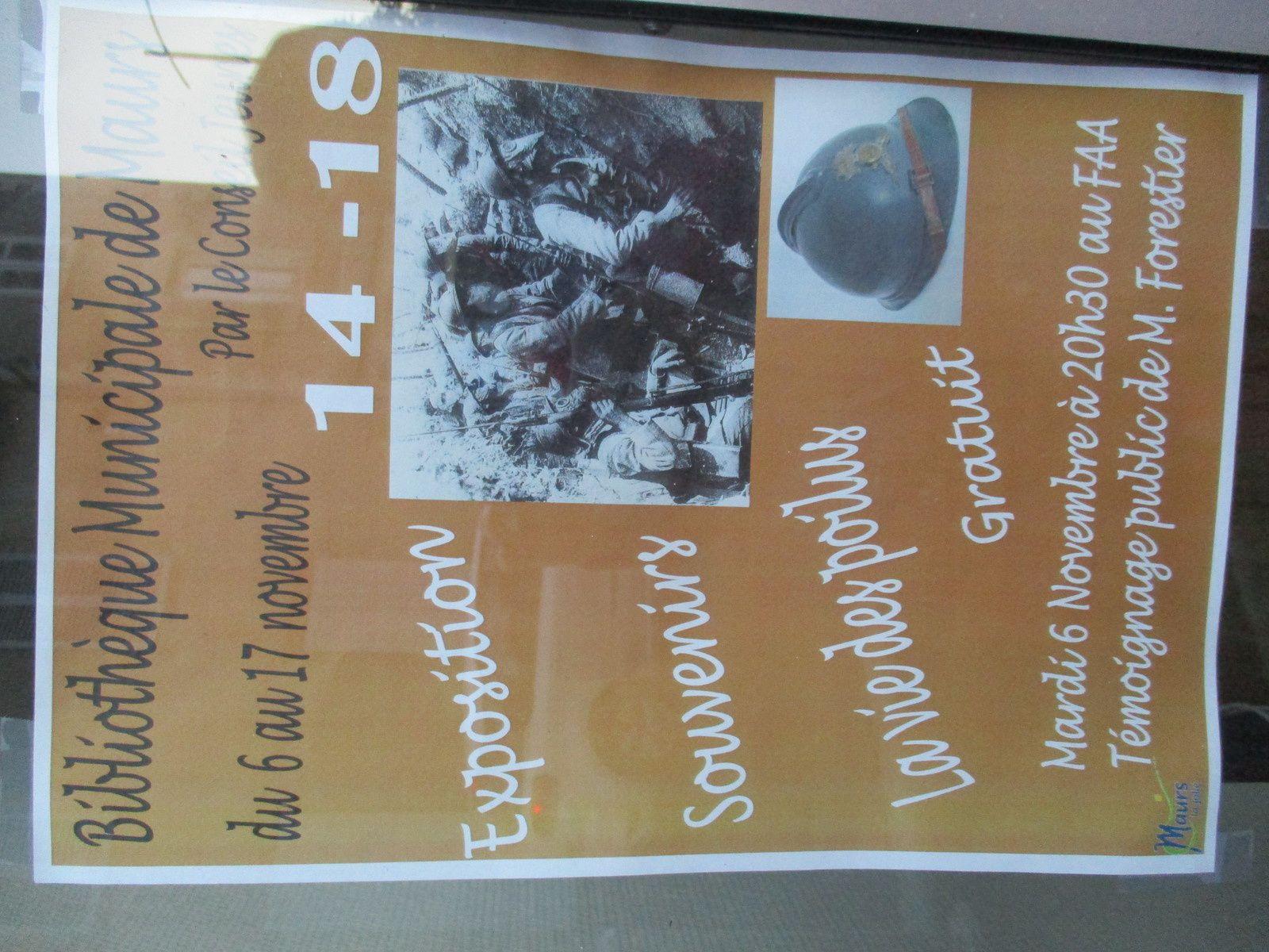 Exposition souvenir à Maurs - La vie des poilus