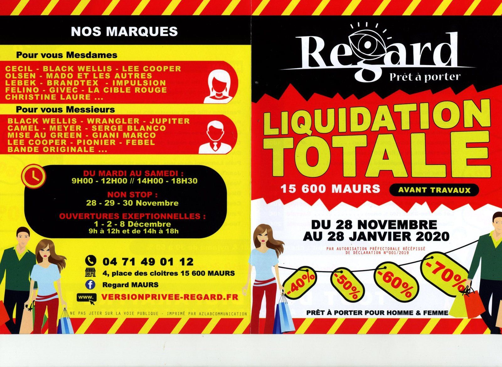 Liquidation Totale à la boutique Regard