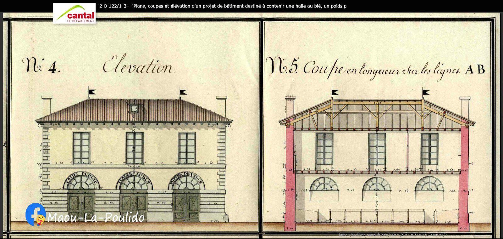 Plan du bâtiment datant de 1819 dressé par LACAZE