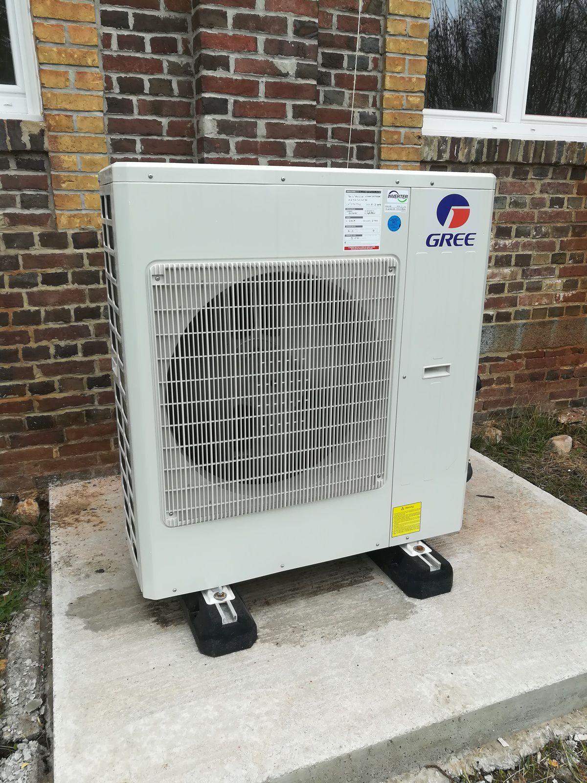 Nos climatisation et chauffage réversible mise en servies sur la Normandie Eure, Seine Maritime