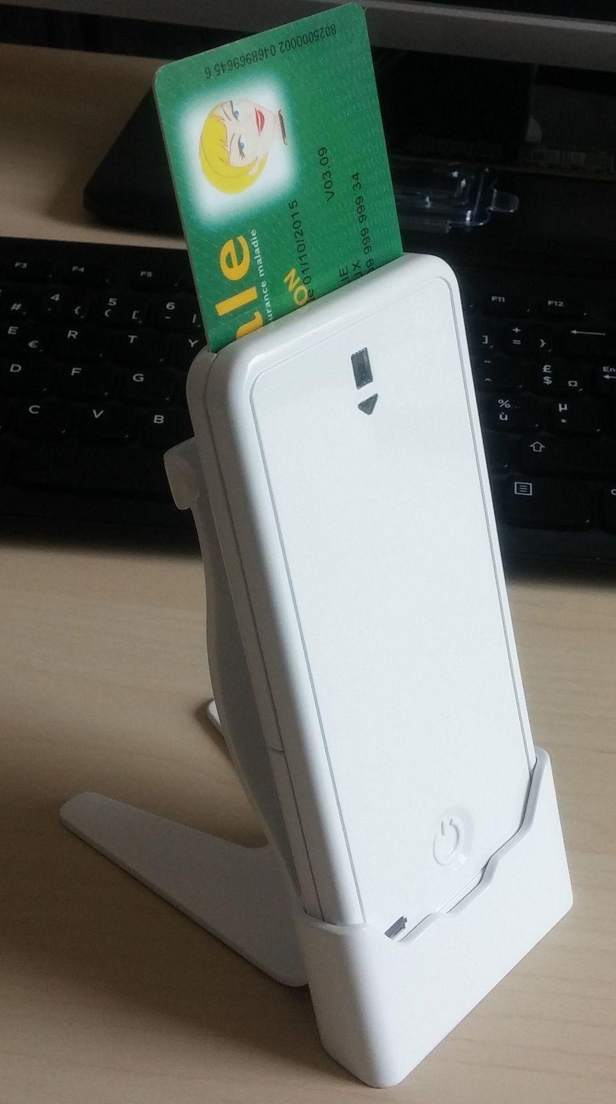 Un lecteur de cartes CPS et Vitale pour des applications sur smartphone et tablette