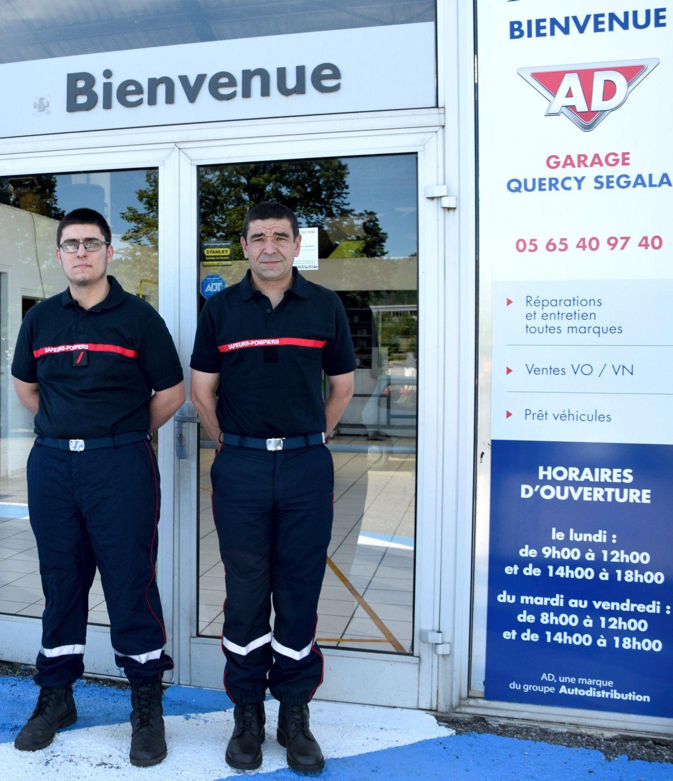 Légende : à gauche l'employé Benjamin Chauzenou et à droite, son employeur, Frédéric Hug