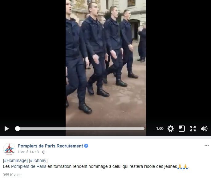 Video les pompiers de paris chantent les portes du - Les portes du penitencier johnny hallyday ...
